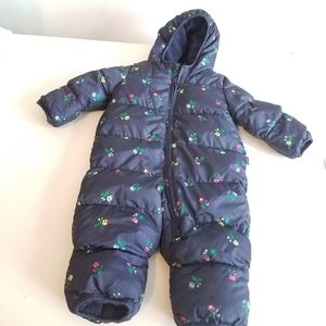 BABY GAP FLORAL ALL IN ONE JACKET SNOWSUIT